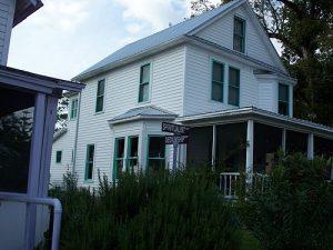 White house at the Cassadaga Spiritualist Camp.